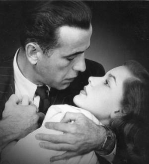 Humphrey Bogart and Lauren Bacall - what sweet noir!